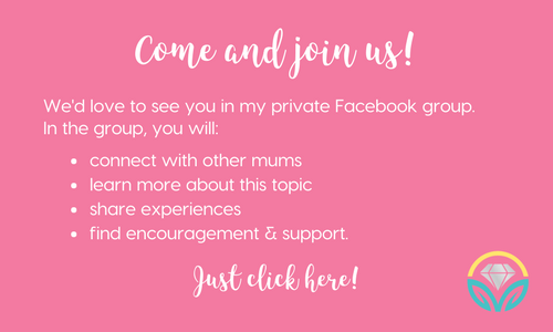 Come and join us - Private Facebook Group - More to Mum