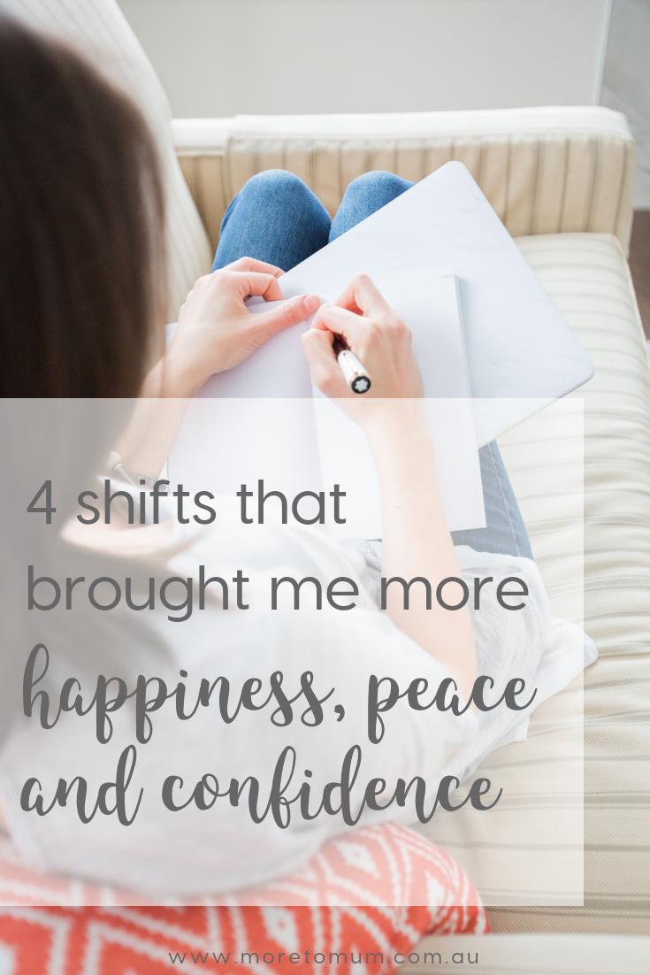 www.moretomum.com.au happiness peace confidence
