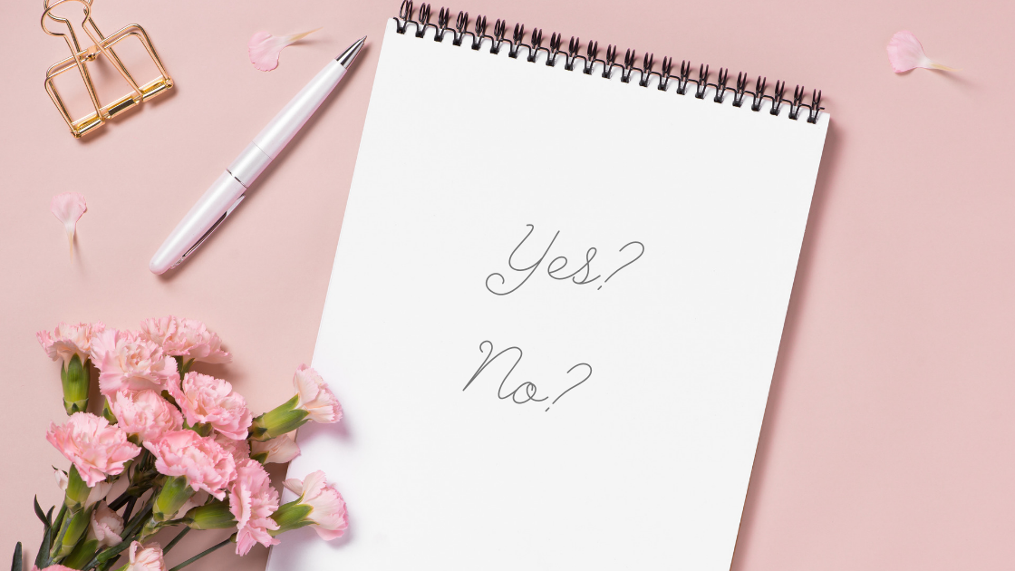 What are you saying yes and no to?